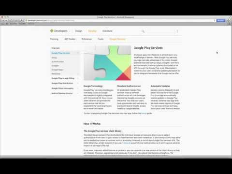 Installing Google Play Services SDK