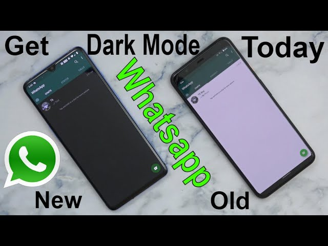 How To Enable Turn On Whatsapp Dark Night Mode Theme Ui On Android