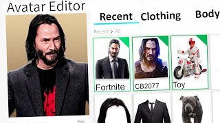 MAKING KEANU REEVES A ROBLOX ACCOUNT!! (John Wick)
