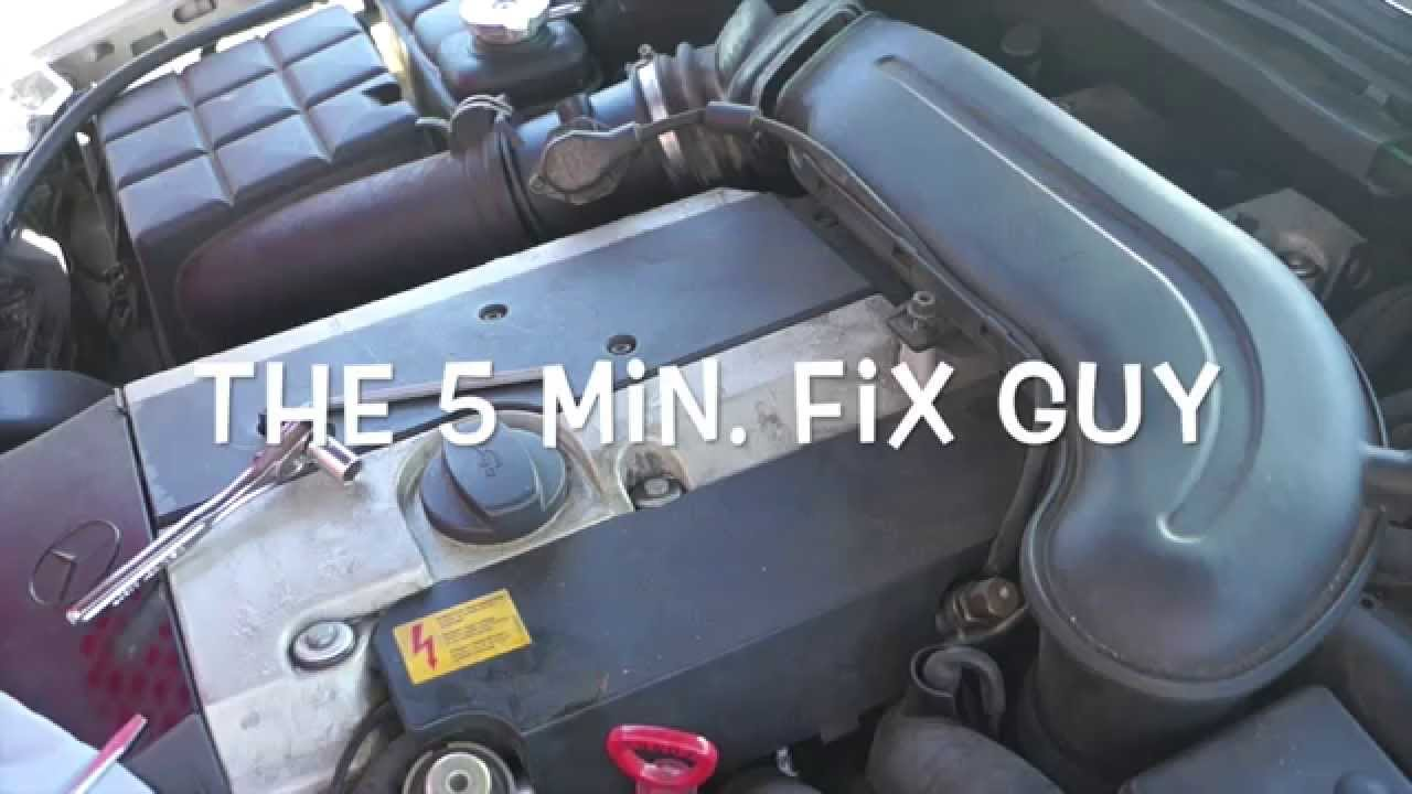 mercedes c280 1996 how to change spark plugs and coil youtube rh youtube com