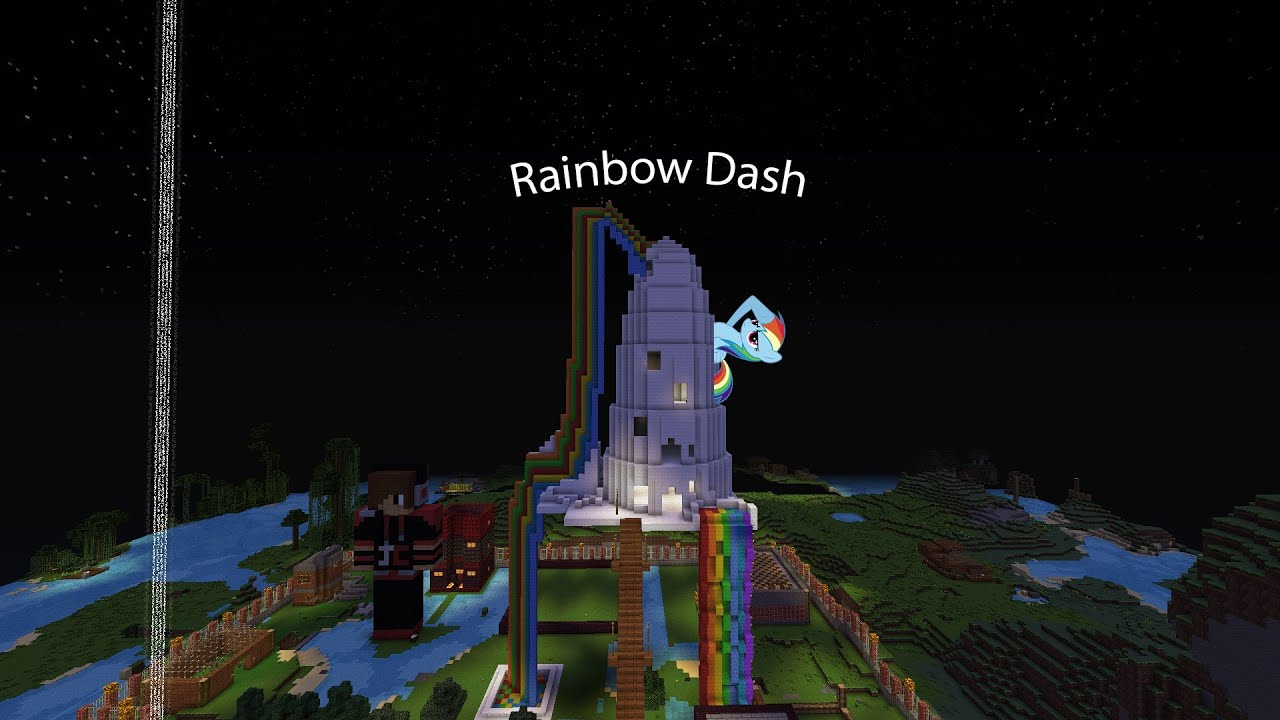 Minecraft rainbow dash house images for How can i build my house