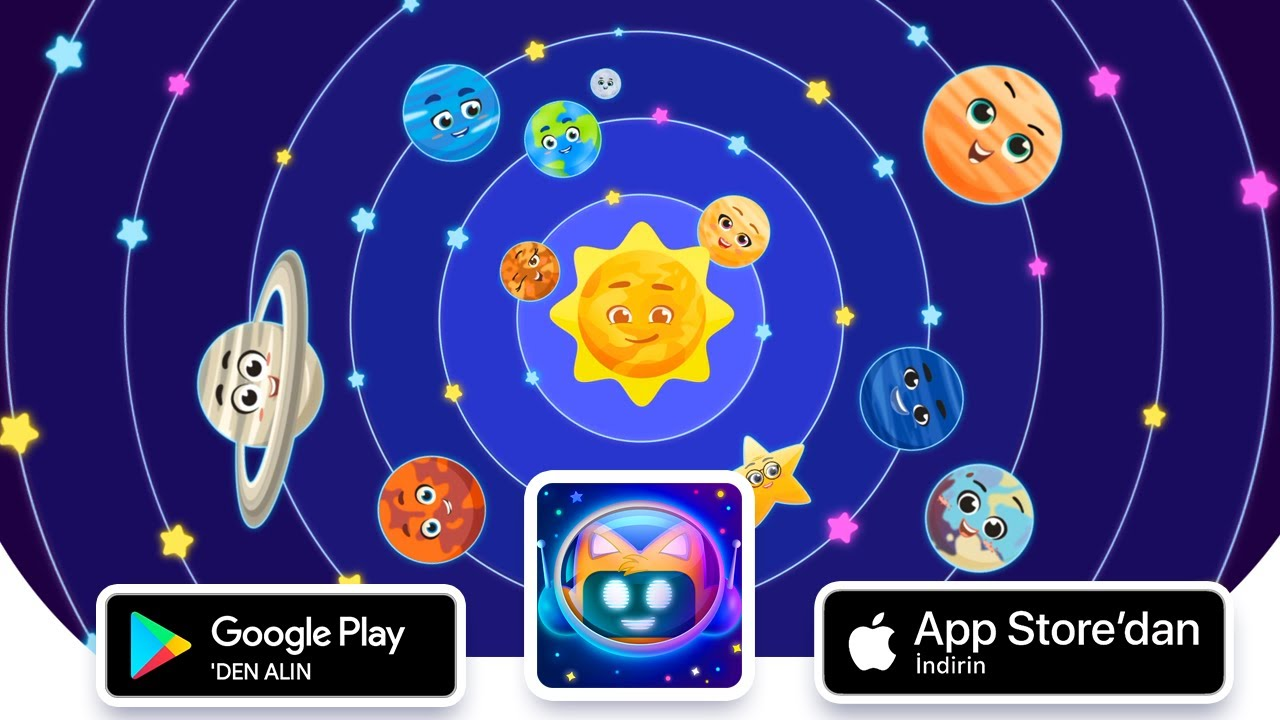 Miniyo Gezegenler Uygulaması Appstore ve Google Play'de!