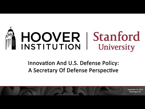 Innovation And U.S. Defense Policy: A Secretary Of Defense Perspective