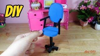 DIY How to make a chair for doll / Cách làm ghế xoay cho búp bê / Ami DIY