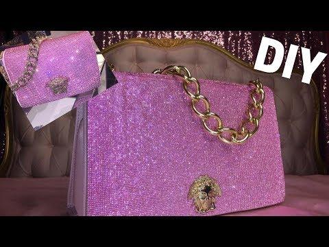 4e44f1d75b6 DIY Versace Crystal Medusa Bag for  40   Annie Penta - YouTube