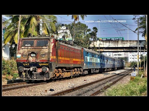 RUSTY Looking MUGHALSARAI WAP 4 with LKO YPR Superfast !! Indian Railways