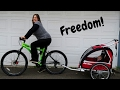 Finally Got a Bike Trailer! | Allen Sports 2 Child Bicycle Trailer and Stroller
