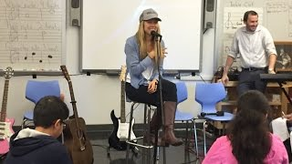 Colbie Caillat makes a special appearance at P.S. 182 in Queens!