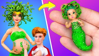 12 DIY Barbie Doll Hacks and Crafts / Medusa and Her Baby