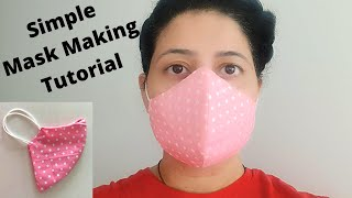 Very Easy Breathable Mask DIY Face Mask at Home It takes just 5 minutes to sew a mask