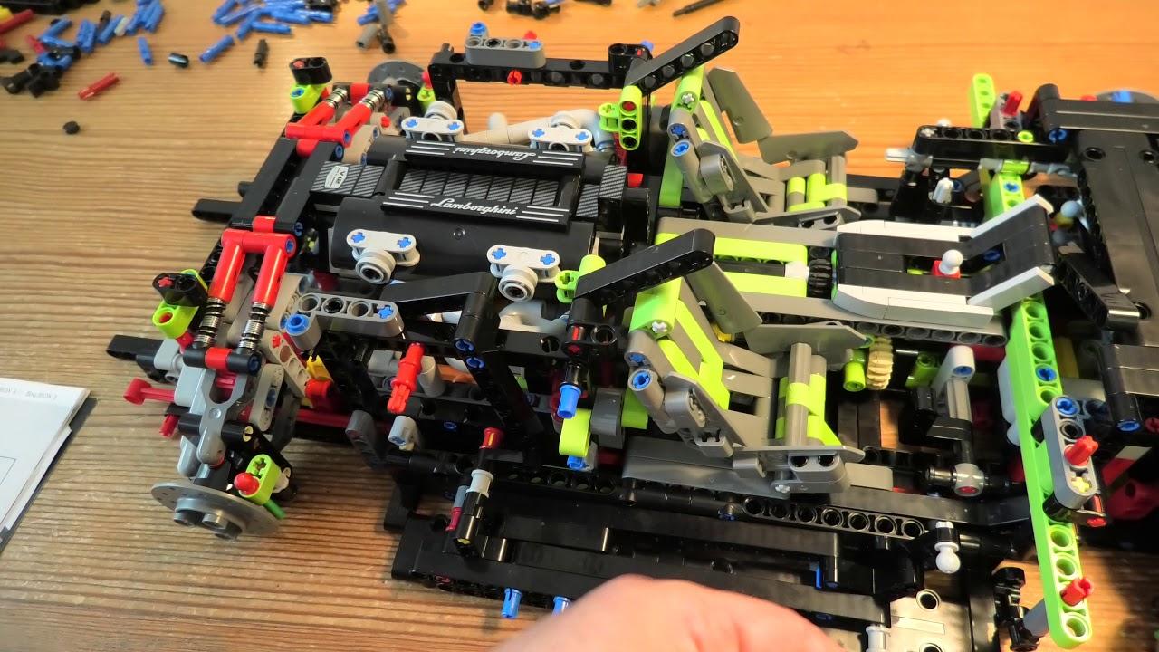 Building Lego Technic Lamborghini Sian FKP 37 SET 42115 PART 10 4K