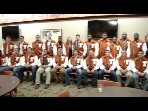 Texas Football receives letter jackets [Jan. 18, 2013]   YouTube