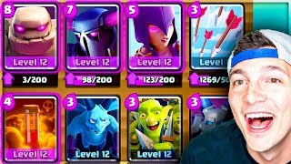CRAZY GOLEM + PEKKA DECK WORKS in Clash Royale!