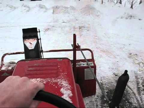 Snapper Tractor With Snow Blower Youtube