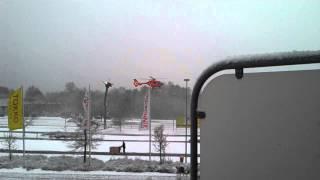 Hubschrauberstart im Wohngebiet Strengfeld Werder/Havel