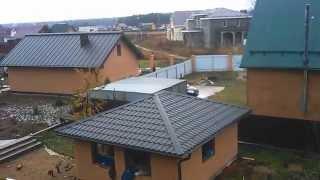 Съемка передвижки дома с вертолета(Это летняя кухня. Вес строения вместе с фундаментом примерно 70 тонн., 2014-11-20T13:01:00.000Z)