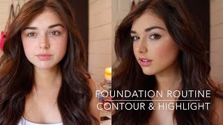 One of Chloé Zadori's most viewed videos: Flawless Foundation Routine + How to Contour & Highlight | Chloé Zadori