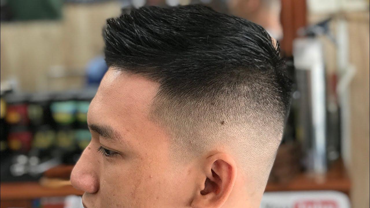Kiểu Tóc Short Quiff (Sport) (phù hợp gương mặt to tròn) || Long Barbershop