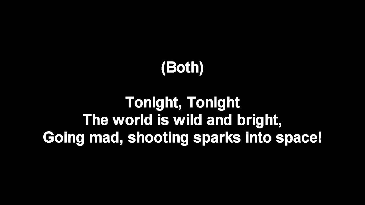 West Side Story Tonight Lyrics Youtube