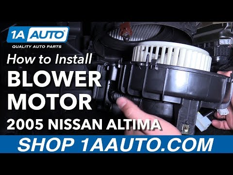 How to Install Replace Heater Blower Motor 2005-06 Nissan Altima