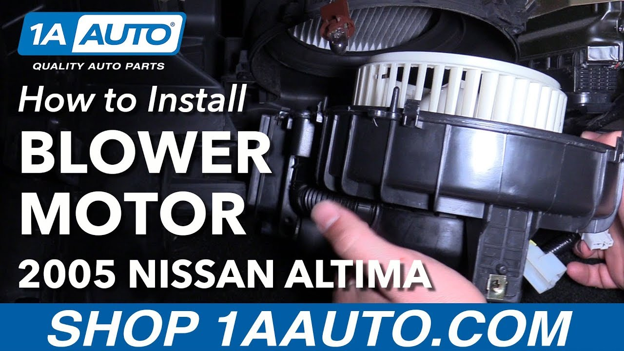 how to install replace heater blower motor 2005 06 nissan