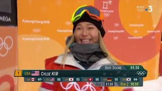 JO 2018 : Chloé Kim écrase la concurrence en snowboard halfpipe !