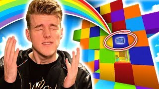 CAN YOU FIND THE RAINBOW BUTTON?!? w/Preston (Minecraft)
