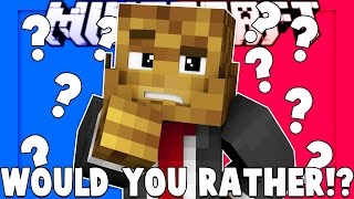 NASTY QUESTIONS Minecraft WOULD YOU RATHER - RED VS BLUE