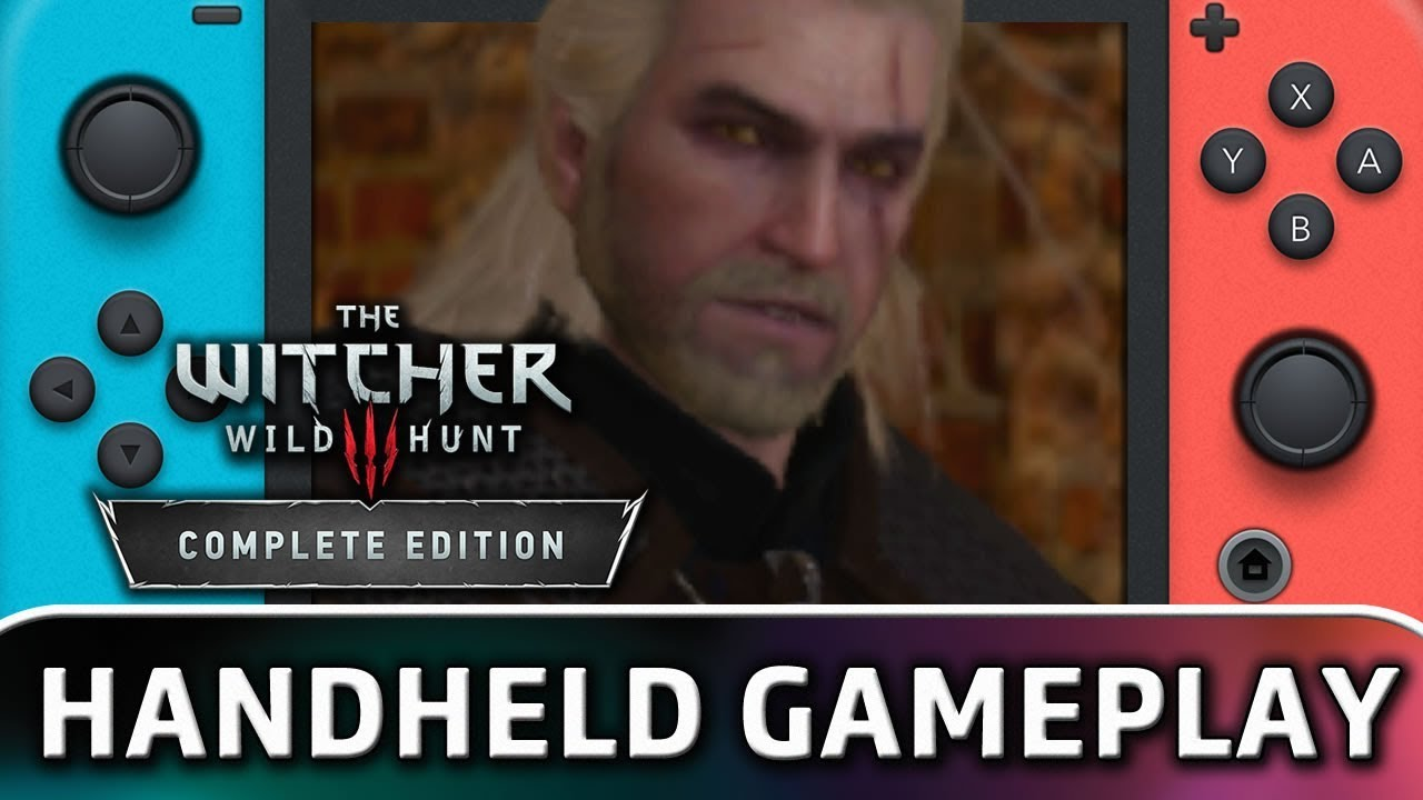 The Witcher 3: Wild Hunt | 15 Minutes in Handheld MODE on Nintendo Switch
