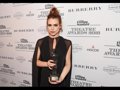 Billie Piper wins best actress at the Evening Standard Theatre Awards 2016