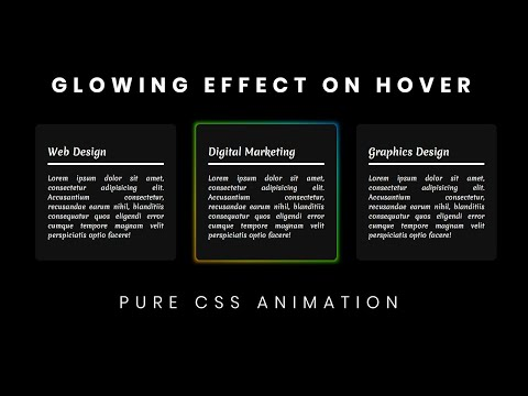 Pure CSS Glowing Effect on Hover | Glowing Gradient Hover Effect