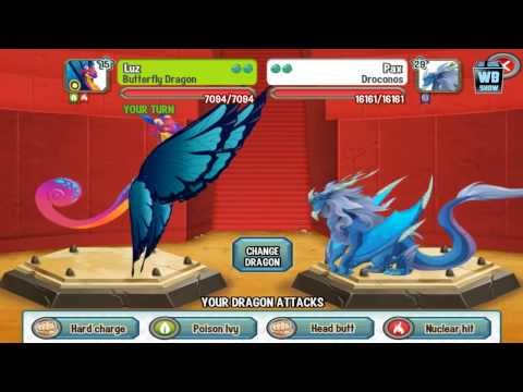 Dragon City: Butterfly Dragon Battle & Skills