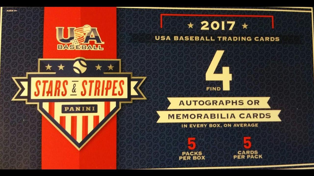 New 2017 Panini Stars And Stripes Usa Baseball Trading Cards Box Break