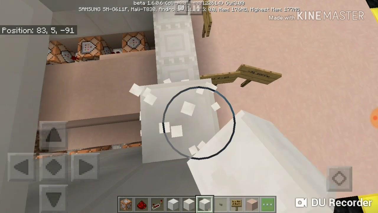 Easy Working Garage Door In Minecraft Using Commands Youtube