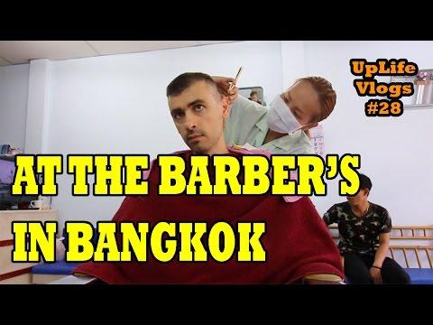Getting a Haircut at the Barber's in Bangkok