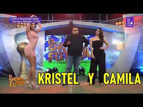 Camila Canicoba y Kristel Sakay el show del futbol
