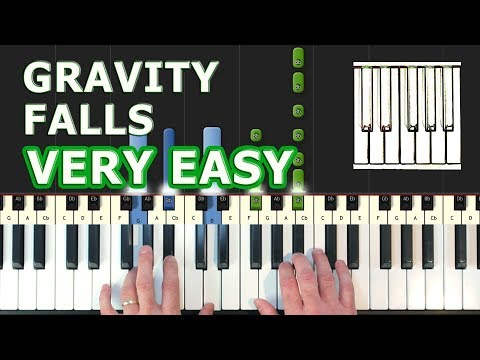 Gravity Falls Theme - EASY Piano Tutorial - How To Play (Synthesia)