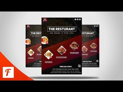 Photoshop Tutorial - Professional Restaurant Flyer Design