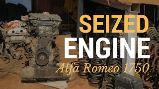 Un-seizing a seized Alfa Romeo engine