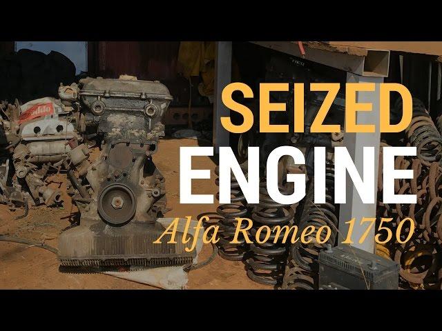Un-seizing a seized Alfa Romeo engine