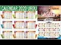 Calendar 2020 Free CDR File (Urdu+English) II by umn Graphics