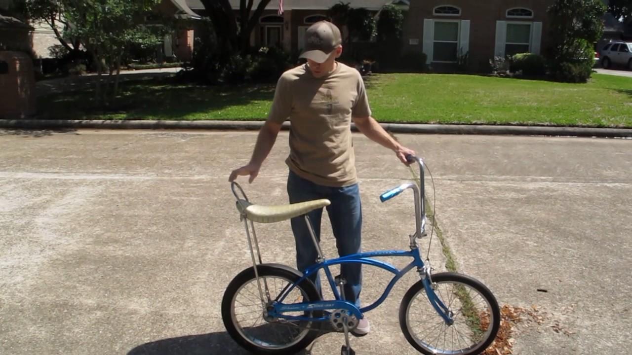 cc5cd30176c 1965 Blue Schwinn Stingray 2 speed - YouTube