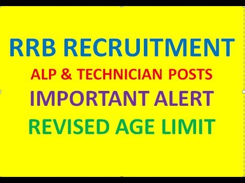 RRB RECRUITMENT IMP ALERT: UPPER AGE RELAXATION 2 YEARS, ASST LOCO PILOTS, TECHNICIANS, LEVEL-1