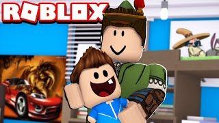 I BECAME A BABY AND I WAS ADOPTED IN ROBLOX!! (ADOPT ME!)