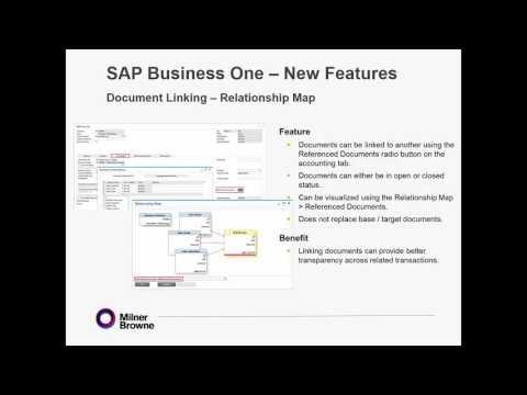 Take a tour of SAP Business One Version 9.2