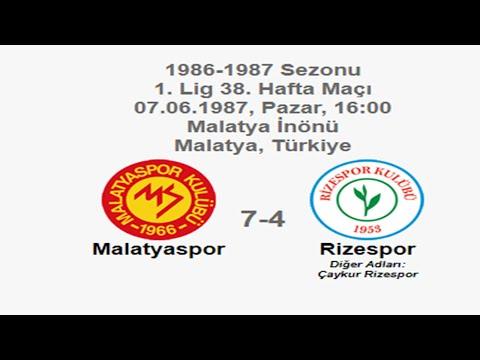 Malatyaspor 7-4 Rizespor [HD] 07.06.1987 - 1986-1987 Turkish 1st League Matchday 38