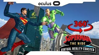 360 3D► SUPERMAN The Ride Virtual Reality Coaster