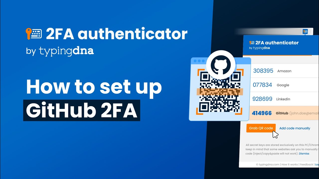 How to set up Github with TypingDNA Authenticator - TypingDNA