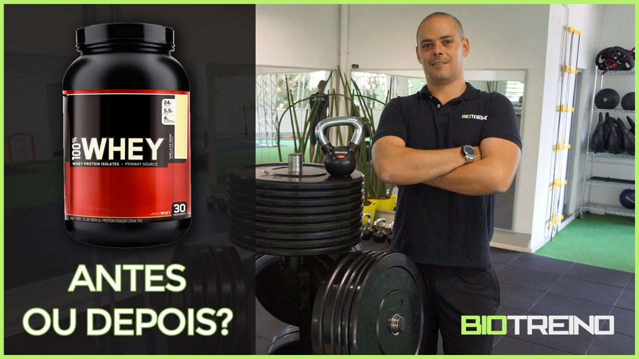 de11a81f9 Whey Protein  antes ou depois do treino  - YouTube