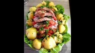 """Запеченное мясо и картофель./Очень вкусная свинина """"Мясная книжка""""!!"""